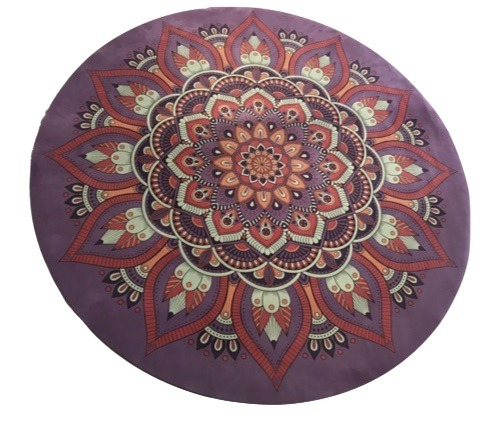 Thegoodsport High Quality Round Pink Suede Yoga Mat